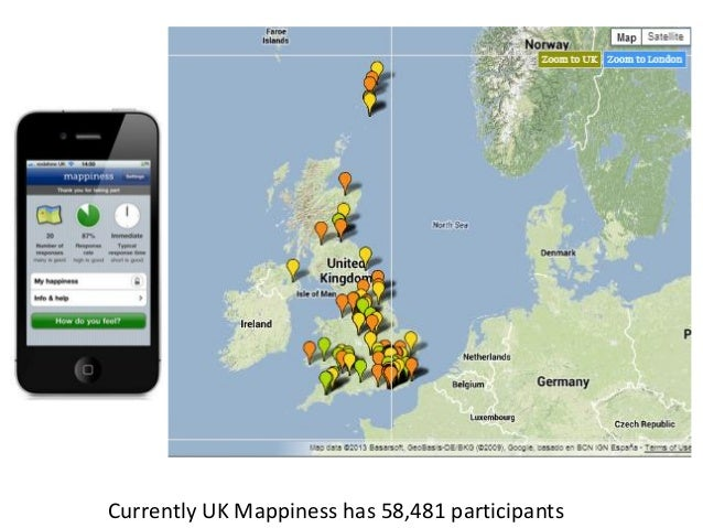 Currently UK Mappiness has 58,481 participants