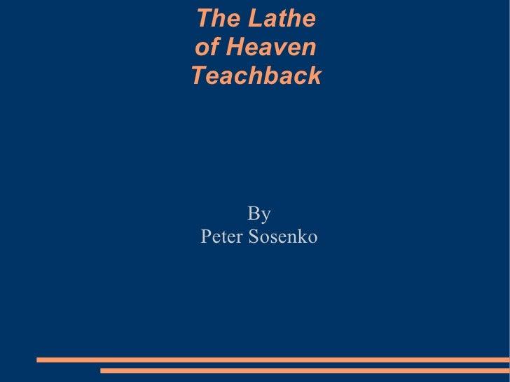 the lathe of heaven pdf
