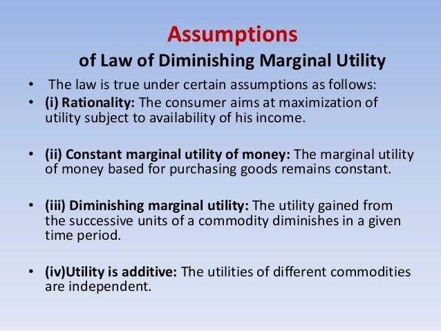 law of diminishing marginal benefit