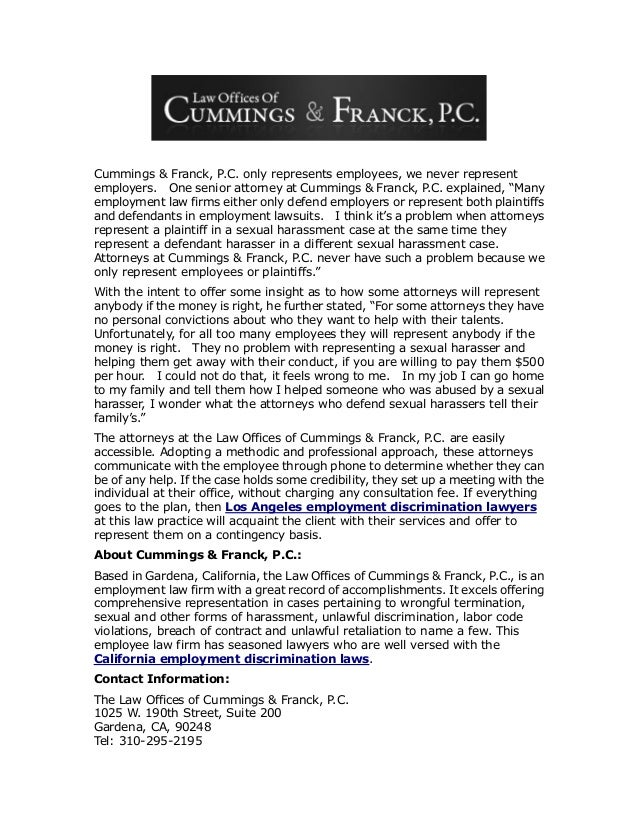 The law offices_of_cummings___franck__p.c._successfully_represents_employees_denied_their_rights Slide 2