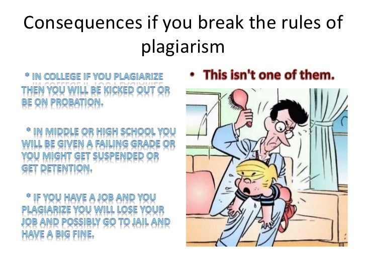 the consequences of plagiarism
