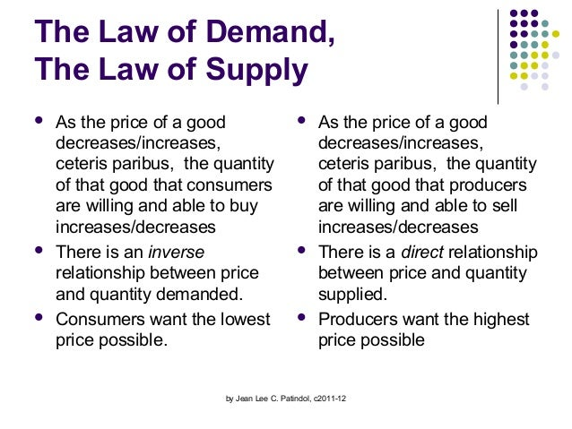 laws of supply and demand and Naturally, the law of supply and demand would dictate that the price of silver would go up due to this exceptional shortage the price of silver in 2011 was $3512.