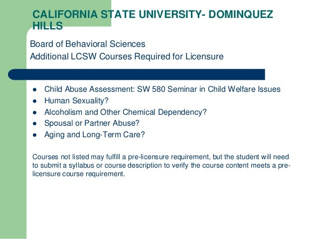 Lcsw pre-license required coursework school homework help science