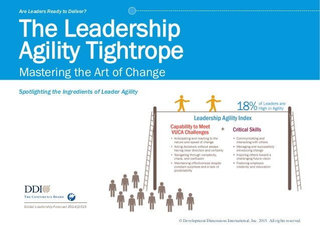 Global Leadership Forecast 2014|2015 Are Leaders Ready to Deliver? The Leadership Agility Tightrope Mastering the Art of C...