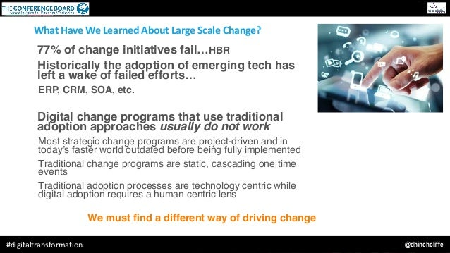 @dhinchcliffe#digitaltransformation Our Belief: We must find a different way of driving change WhatHaveWeLearnedAboutL...
