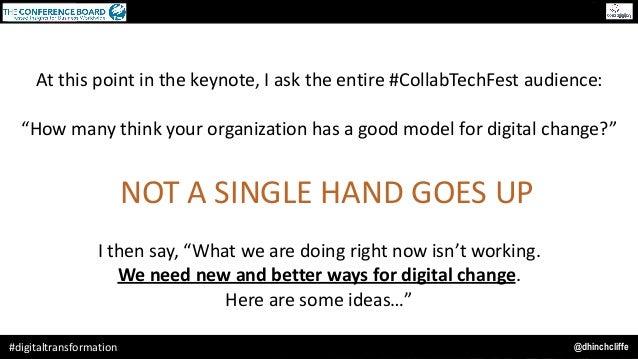 "@dhinchcliffe#digitaltransformation Atthispointinthekeynote,Iasktheentire#CollabTechFestaudience: ""Howmanyth..."