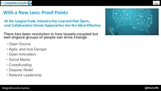 @dhinchcliffe#digitaltransformation AttheLargestScale,IndustryHasLearnedthatOpen, andCollaborativeDrivenAppro...