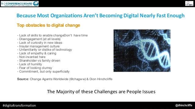 @dhinchcliffe#digitaltransformation BecauseMostOrganizationsAren'tBecomingDigitalNearlyFastEnough - Lack of skill...