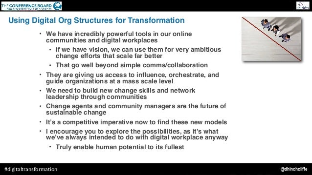 @dhinchcliffe#digitaltransformation Using Digital Org Structures for Transformation • We have incredibly powerful tools in...