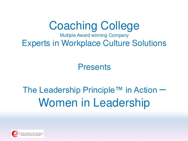 Myself as a leader principle of