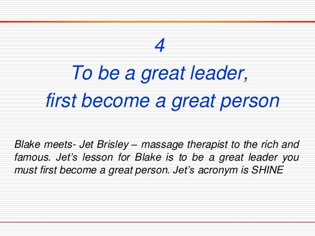 What makes you a great leader essay