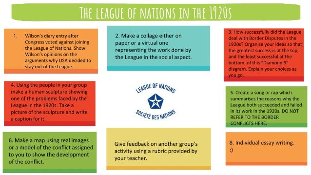 The league of nations in the 1920s 1.