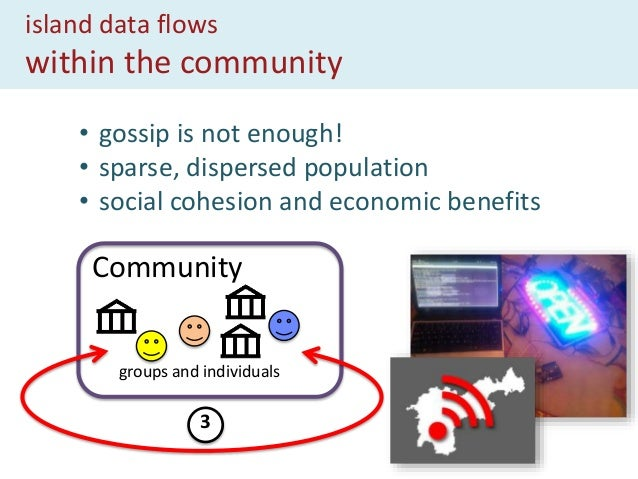 island data flows between communities Community groups and individuals other communities 4 • sharing best practice • brand...
