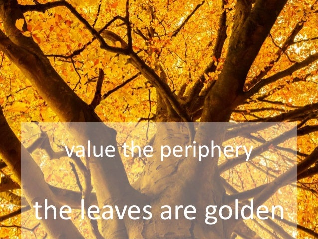 The leaves are golden