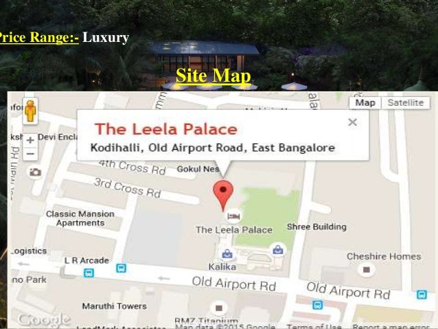 Leela Palace Bangalore Room Rent