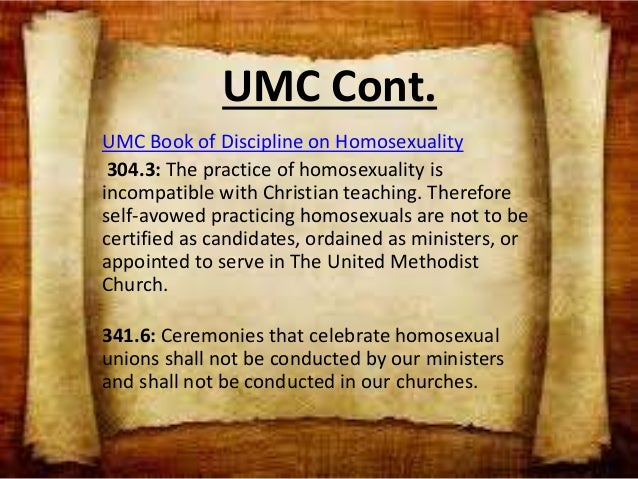 United methodist book of discipline homosexuality in christianity