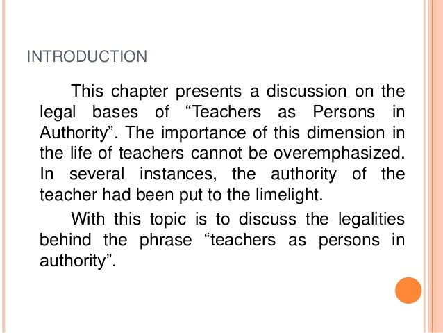 legal bases of philippine education As we know, innocence does not excuse anyone to the law sometimes teacher do bad or illegal things because they are not aware of the law but that should not be an excuse, because as a professional teacher, it is expected to know all the legal basis that is connected to education to avoid wrong practices and to be aware of the real goal and.