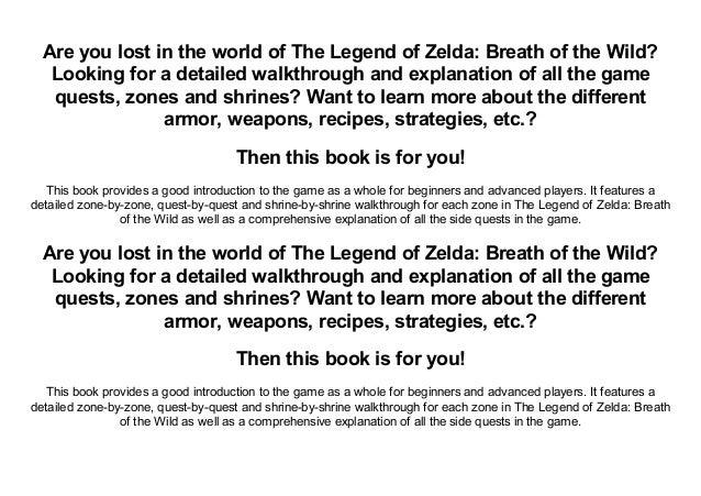 Read] The Legend of Zelda: Breath of the Wild Extensive