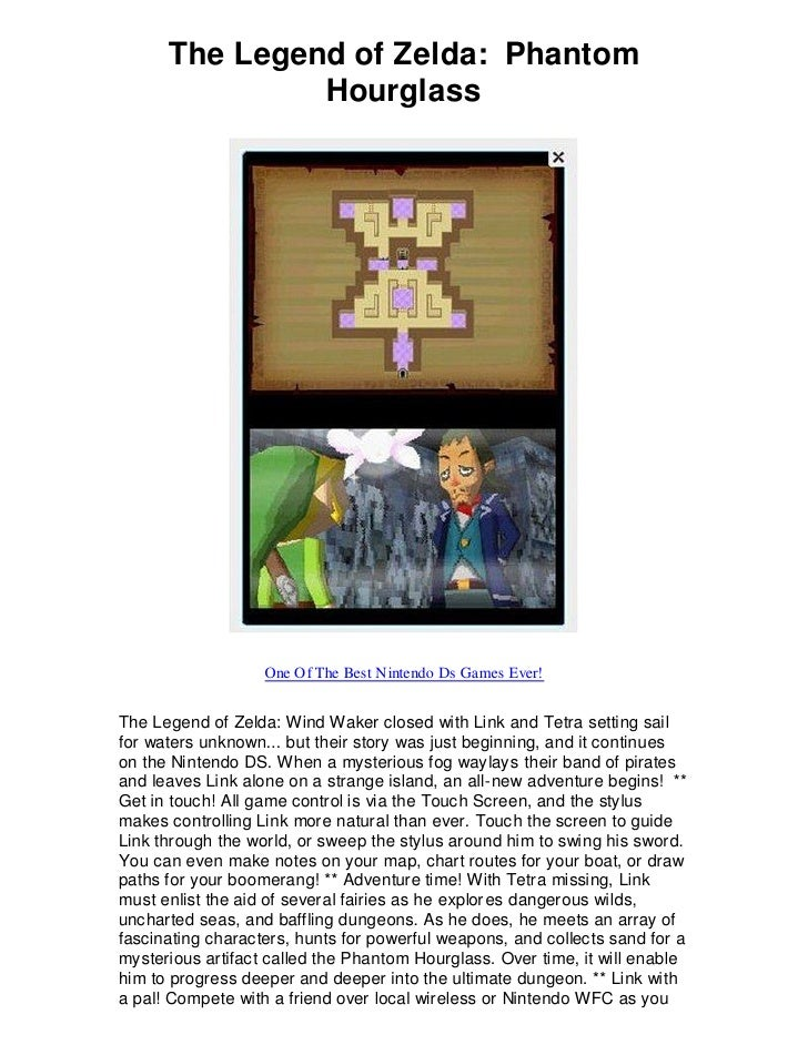 The Legend of Zelda: Phantom                Hourglass                        One Of The Best Nintendo Ds Games Ever!   The...