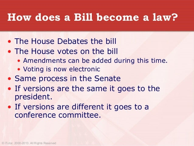how does a bill become an
