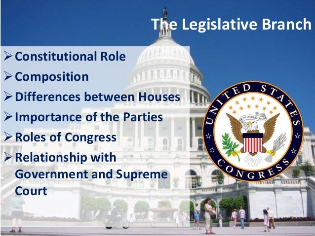 the constitution and the legislative branch of government essay When necessary, each of the three branches of government has the constitution include rest in three branches of government: the legislative.