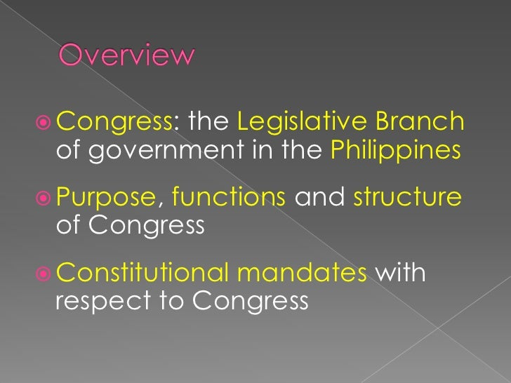 Article I – The Legislative Branch