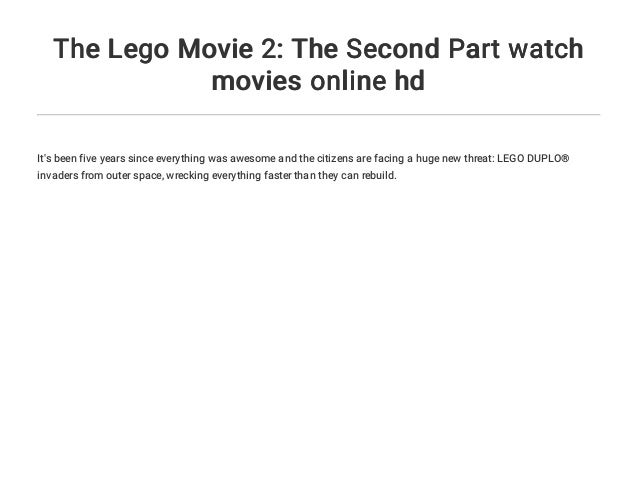 The Lego Movie 2 The Second Part Watch Movies Online Hd