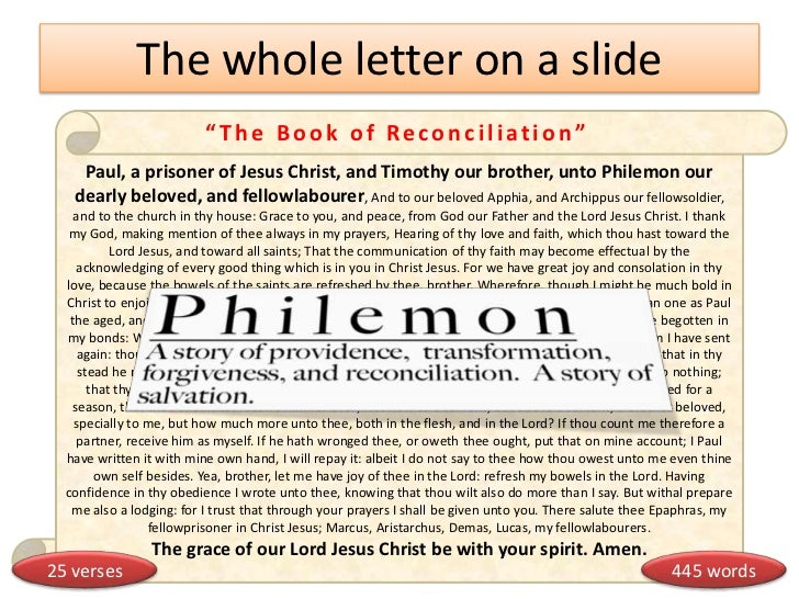 Philemon with Book Summary - Verse-by-Verse Bible Commentary