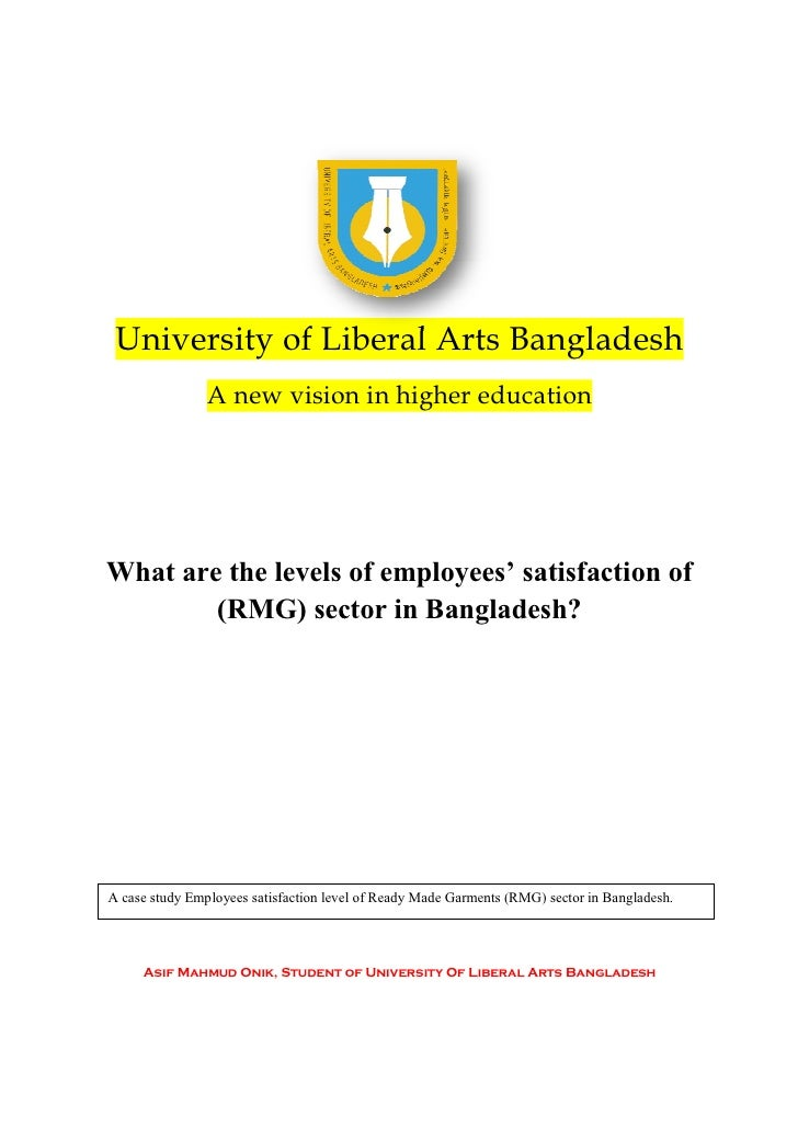 University of Liberal Arts Bangladesh                A new vision in higher educationWhat are the levels of employees' sat...