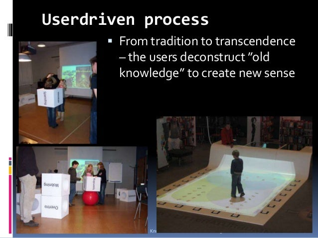 """Knud Schulz Dokk1 December 2015 Userdriven process  From tradition to transcendence – the users deconstruct """"old knowledg..."""