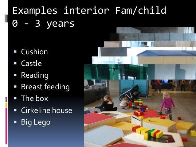 Examples interior Fam/child 0 - 3 years  Cushion  Castle  Reading  Breast feeding  The box  Cirkeline house  Big Le...