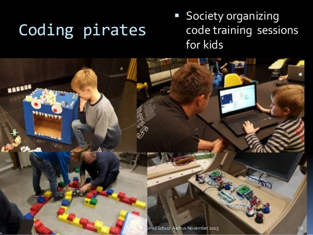 Coding pirates  Society organizing code training sessions for kids Knud Schulz Aarhus November 2015 59