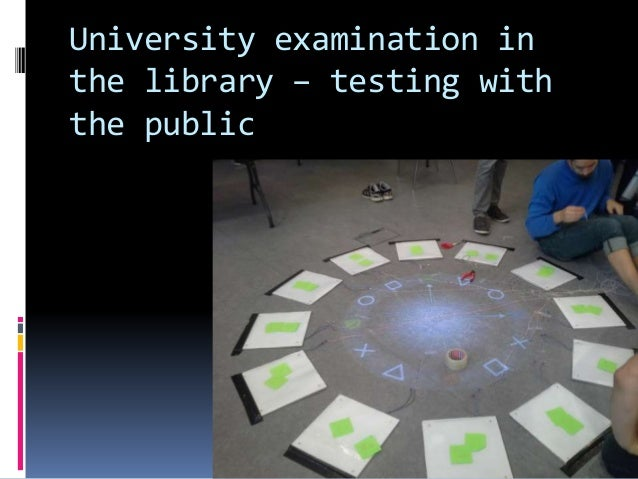 University examination in the library – testing with the public Knud Schulz Aarhus November 2015 65