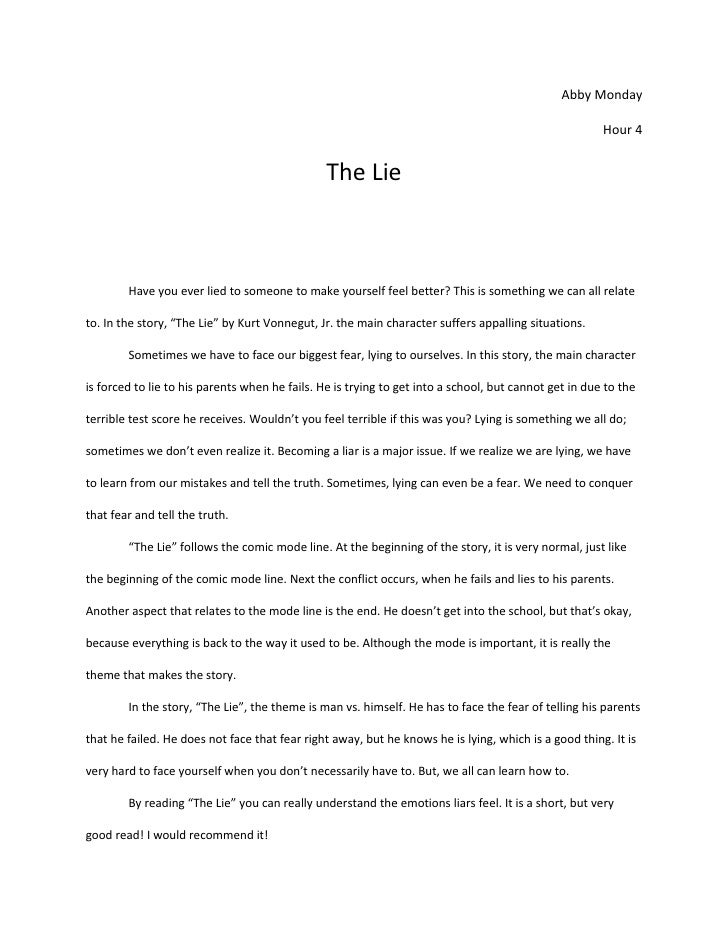Essay the lie life
