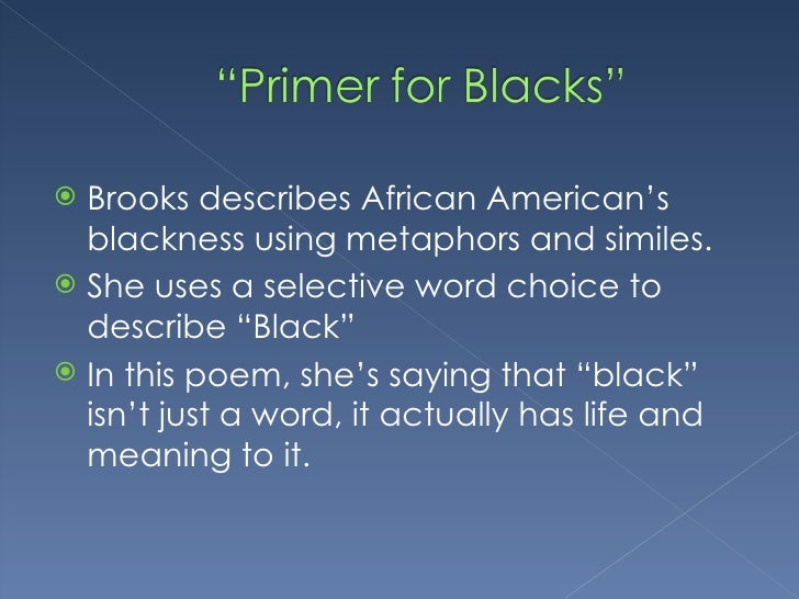 gwendolyn brooks style Gwendolyn brooks grew up in chicago in a poor yet stable and loving family her father was a janitor who had hoped to become a doctor her mother a teacher and classically trained pianist brooks was thirteen when her first published poem, 'eventide', appeared in american childhood by seventeen.