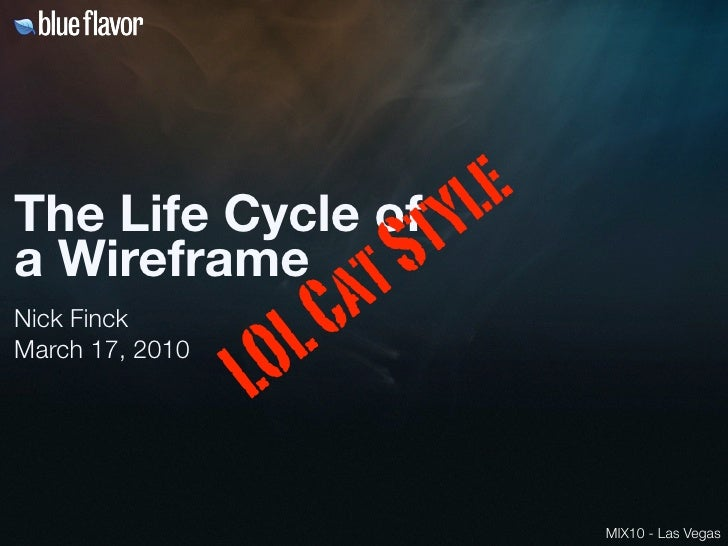 The Life Cycle Of A Wireframe: LOL Cats Style Slide 2
