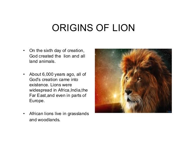 the mighty lion god s creation