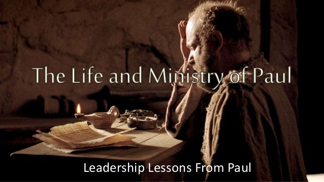 Leadership Lessons From Paul