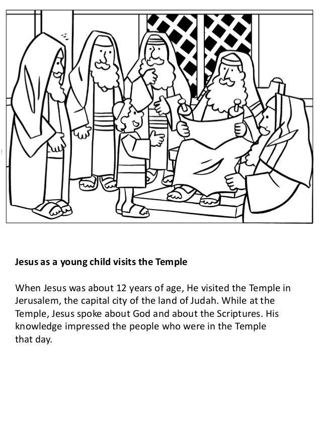 Boy Jesus in the Temple coloring page | Free Printable Coloring Pages | 851x638