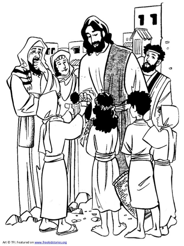 Jesus coloring book pages