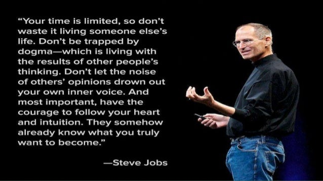 steve jobs presentation February 24, 1955 adopted palo alto, california reed college (dropout in 1972) apple, next, pixar apple ceo (2000- ) sallary - $1 net worth - $61 billion.