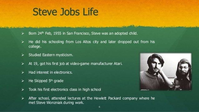 Powerpoint presentation biography for Steve jobs powerpoint template