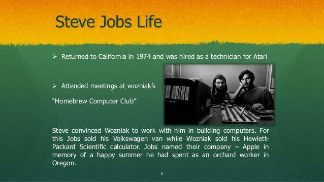The Life Of Steve Jobs Power Point Presentation