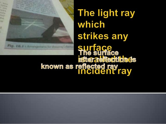 The light ray which