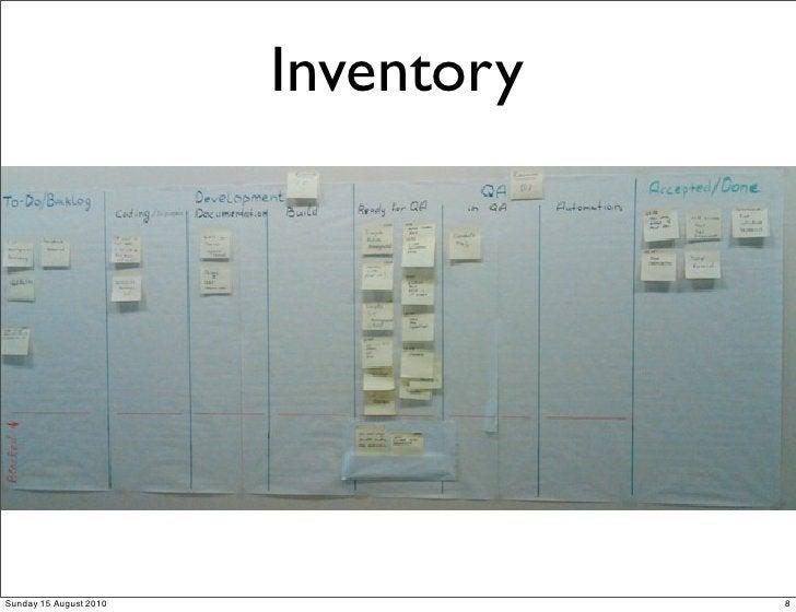 Inventory     Sunday 15 August 2010               8