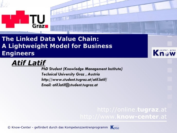 Atif Latif The Linked Data Value Chain: A Lightweight Model for Business Engineers PhD Student (Knowledge Management Insti...