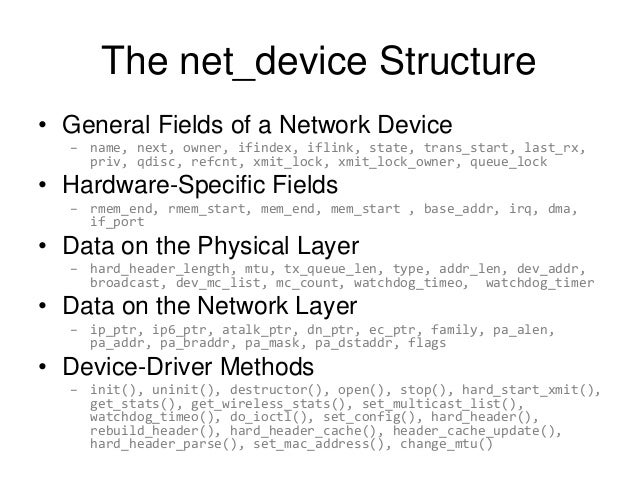 the linux networking architecture pdf