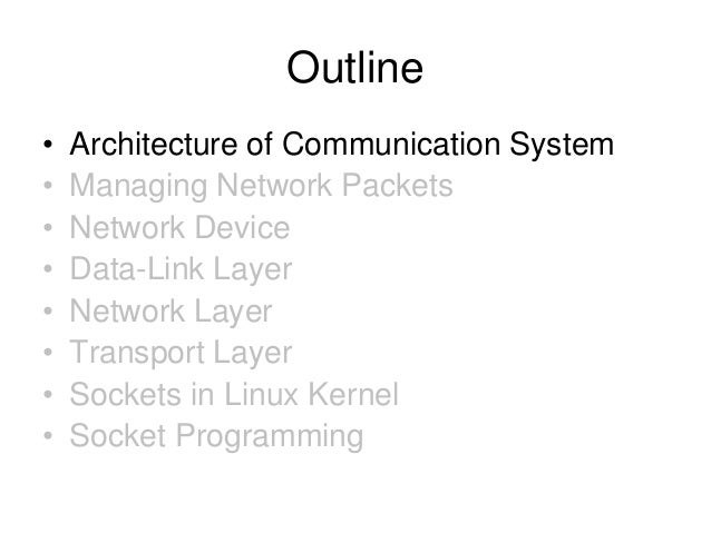 The linux networking architecture Slide 3