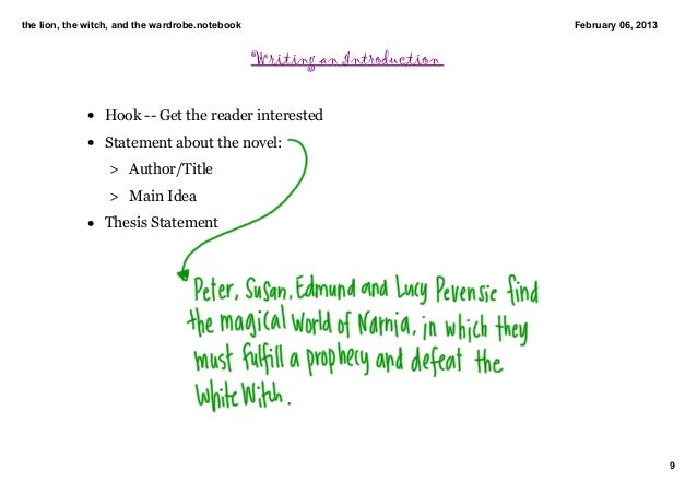 the lion the witch and the wardrobe essay notes  9 the lion the witch