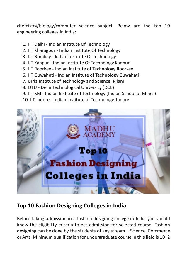 The List Of Best Colleges In India